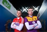 15 January 2020; (EDITOR'S NOTE: This image was created using a starburst filter) eir sport has today announced the details of its 2020 Allianz Leagues coverage. On hand for the launch were Cork's Alan Cadogan, Wexford's Rory O'Connor, Dublin's Paul Mannion and Kerry's Paul Geaney. Over seven weekends eir sport will broadcast 15 football and hurling games and become the home of Saturday night live GAA. The coverage kicks off on Saturday 25th January, with a massive triple header across its channels, including the All-Ireland football & hurling champions. Pictured at the launch are Alan Cadogan of Cork, left, and Rory O'Connor of Wexford. Photo by Brendan Moran/Sportsfile