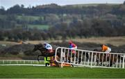 15 January 2020; Darrens Hope, with Michael Fogarty up, left, jumps the fourth, on their way to winning the Ladbrokes Mares Maiden Hurdle at Punchestown Racecourse in Kildare. Photo by Harry Murphy/Sportsfile