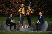 16 January 2020; From left, Kilkenny camogie manager Brian Dowling, Kilkenny player Paddy Deegan, Kilkenny camogie player Claire Phelan and Kilkenny manager Brian Cody in attendance as Glanbia Launch their 2020 Kilkenny Hurling & Camogie Sponsorship at Glanbia House in Kilkenny. Photo by Matt Browne/Sportsfile