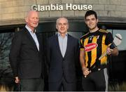 16 January 2020; Brian Phelan, CEO of Glanbia Nutritionals, with Kilkenny manager Brian Cody and player Paddy Deegan in attendance as Glanbia Launch their 2020 Kilkenny Hurling & Camogie Sponsorship at Glanbia House in Kilkenny. Photo by Matt Browne/Sportsfile