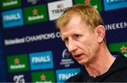 14 January 2020; Head coach Leo Cullen during a Leinster Rugby press conference at Leinster Rugby Headquarters in UCD, Dublin. Photo by Harry Murphy/Sportsfile