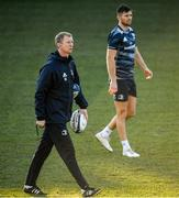 17 January 2020; Head coach Leo Cullen, left, and Ross Byrne during the Leinster Rugby captain's run at Stadio Comunale di Monigo in Treviso, Italy. Photo by Ramsey Cardy/Sportsfile