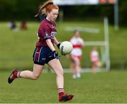 22 June 2019; Emer Fogarty of Westmeath during the Ladies Football All-Ireland U14 Bronze Final 2019 match between Derry and Westmeath at St Aidan's GAA Club in Templeport, Cavan. Photo by Ray McManus/Sportsfile