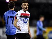 17 January 2020; Darragh Leahy of Dundalk celebrates after scoring his side's sixth goal during the Pre-Season Friendly match between Dundalk and UCD at Oriel Park in Dundalk, Co. Louth. Photo by Harry Murphy/Sportsfile