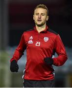 17 January 2020; Ally Gilchrist of Derry City ahead of the Pre-Season Friendly between Drogheda United and Derry City at United Park in Drogheda, Co. Louth. Photo by Ben McShane/Sportsfile