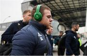 18 January 2020; Seán Cronin of Leinster arrives ahead of the Heineken Champions Cup Pool 1 Round 6 match between Benetton and Leinster at the Stadio Comunale di Monigo in Treviso, Italy. Photo by Ramsey Cardy/Sportsfile
