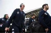 18 January 2020; Devin Toner of Leinster arrives ahead of the Heineken Champions Cup Pool 1 Round 6 match between Benetton and Leinster at the Stadio Comunale di Monigo in Treviso, Italy. Photo by Ramsey Cardy/Sportsfile