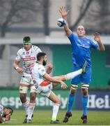 18 January 2020; Tito Tebaldi of Benetton in action against Devin Toner of Leinster during the Heineken Champions Cup Pool 1 Round 6 match between Benetton and Leinster at the Stadio Comunale di Monigo in Treviso, Italy. Photo by Ramsey Cardy/Sportsfile