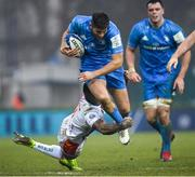18 January 2020; Ross Byrne of Leinster is tackled by Monty Ioane of Benetton during the Heineken Champions Cup Pool 1 Round 6 match between Benetton and Leinster at the Stadio Comunale di Monigo in Treviso, Italy. Photo by Ramsey Cardy/Sportsfile