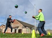 18 January 2020; Goalkeeper's  Conor Gleeson  and Ronan O Beolain warm up before the Connacht FBD League Final between Roscommon and Galway at Dr. Hyde Park in Roscommon. Photo by Ray Ryan/Sportsfile