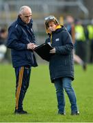 18 January 2020; Roscommon manager Anthony Cunningham with Valerie Murray secretary of Roscommon GAA before the Connacht FBD League Final between Roscommon and Galway at Dr. Hyde Park in Roscommon. Photo by Ray Ryan/Sportsfile
