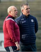 18 January 2020; Galway manager Padraic Joyce with goalkeeping coach Martin McNamara before the Connacht FBD League Final between Roscommon and Galway at Dr. Hyde Park in Roscommon. Photo by Ray Ryan/Sportsfile