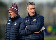 18 January 2020; Galway manager Padraic Joyce with selector Micheal O'Domhnaill before the Connacht FBD League Final between Roscommon and Galway at Dr. Hyde Park in Roscommon. Photo by Ray Ryan/Sportsfile