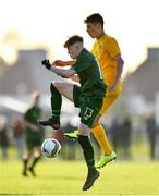 18 January 2020; Alex Nolan of Republic of Ireland in action against Jared Frack of Australia during the International Friendly match between Republic of Ireland U15 and Australia U16 at FAI National Training Centre in Abbotstown, Dublin. Photo by Seb Daly/Sportsfile