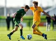 18 January 2020; Pearse O'Brien of Republic of Ireland in action against Logan Mathie of Australia during the International Friendly match between Republic of Ireland U15 and Australia U16 at FAI National Training Centre in Abbotstown, Dublin. Photo by Seb Daly/Sportsfile