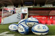 18 January 2020; A general view of Heineken Champions Cup rugby balls before the Heineken Champions Cup Pool 3 Round 6 match between Ulster and Bath at Kingspan Stadium in Belfast. Photo by Oliver McVeigh/Sportsfile