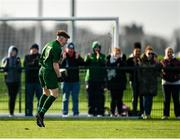 18 January 2020; Alex Nolan of Republic of Ireland celebrates after scoring his side's second goal during the International Friendly match between Republic of Ireland U15 and Australia U16 at FAI National Training Centre in Abbotstown, Dublin. Photo by Seb Daly/Sportsfile