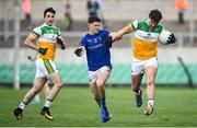 18 January 2020; Michael Brazil of Offaly in action against Rian Brady of Longford during the 2020 O'Byrne Cup Final between Offaly and Longford at Bord na Mona O'Connor Park in Tullamore, Offaly. Photo by David Fitzgerald/Sportsfile