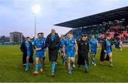 18 January 2020; Leinster players, including Robbie Henshaw, Devin Toner and Josh van der Flier following the Heineken Champions Cup Pool 1 Round 6 match between Benetton and Leinster at the Stadio Comunale di Monigo in Treviso, Italy. Photo by Ramsey Cardy/Sportsfile