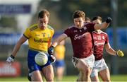 18 January 2020; Enda Smith of Roscommon in action against John Daly of Galway during the Connacht FBD League Final between Roscommon and Galway at Dr. Hyde Park in Roscommon. Photo by Ray Ryan/Sportsfile
