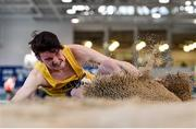 18 January 2020;Tristan Chambers of Bandon A.C., Co. Cork, competing in the Long Jump in the Senior Men's combined events during the Irish Life Health Indoor Combined Events All Ages at Athlone International Arena, AIT in Athlone, Co. Westmeath. Photo by Sam Barnes/Sportsfile