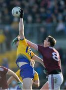 18 January 2020; Andrew Glennon of Roscommon in action against Tom Flynn of Galway during the Connacht FBD League Final between Roscommon and Galway at Dr. Hyde Park in Roscommon. Photo by Ray Ryan/Sportsfile