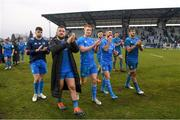 18 January 2020; Leinster players, from left, Harry Byrne, Andrew Porter, Ciarán Frawley, Robbie Henshaw, Rob Kearney, James Ryan and Caelan Doris following the Heineken Champions Cup Pool 1 Round 6 match between Benetton and Leinster at the Stadio Comunale di Monigo in Treviso, Italy. Photo by Ramsey Cardy/Sportsfile