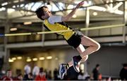 18 January 2020; Patrick Lacey of Kilkenny City Harriers A.C., Co. Kilkenny, competing in the High Jump in the U14 Men's combined events during the Irish Life Health Indoor Combined Events All Ages at Athlone International Arena, AIT in Athlone, Co. Westmeath. Photo by Sam Barnes/Sportsfile