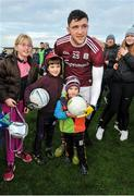 18 January 2020; Damien Comer of Galway celebrates with supporters after the Connacht FBD League Final between Roscommon and Galway at Dr. Hyde Park in Roscommon. Photo by Ray Ryan/Sportsfile