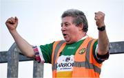 18 January 2020; Offaly supporter Mick McDonagh reacts during the 2020 O'Byrne Cup Final between Offaly and Longford at Bord na Mona O'Connor Park in Tullamore, Offaly. Photo by David Fitzgerald/Sportsfile