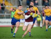18 January 2020; Damien Comer of Galway in action against Cathal Cregg of Roscommon during the Connacht FBD League Final between Roscommon and Galway at Dr. Hyde Park in Roscommon. Photo by Ray Ryan/Sportsfile