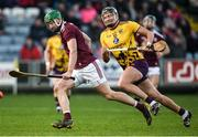 18 January 2020; Brian Concannon of Galway in action against Jack O'Connor of Wexford during the Walsh Cup Final between Wexford and Galway at MW Hire O'Moore Park in Portlaoise, Laois. Photo by Diarmuid Greene/Sportsfile