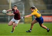 18 January 2020; Tom Flynn of Galway in action against Enda Smith of Roscommon during the Connacht FBD League Final between Roscommon and Galway at Dr. Hyde Park in Roscommon. Photo by Ray Ryan/Sportsfile