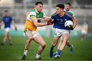18 January 2020; Rian Brady of Longford in action against Jordan Hayes of Offaly during the 2020 O'Byrne Cup Final between Offaly and Longford at Bord na Mona O'Connor Park in Tullamore, Offaly. Photo by David Fitzgerald/Sportsfile