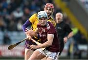 18 January 2020; Conor Walsh of Galway in action against Paudie Foley of Wexford during the Walsh Cup Final between Wexford and Galway at MW Hire O'Moore Park in Portlaoise, Laois. Photo by Diarmuid Greene/Sportsfile