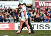 18 January 2020; Tom O'Toole of Ulster is accompanied from the pitch by Ulster skills coach Dan Soper after sustaining an injury during the Heineken Champions Cup Pool 3 Round 6 match between Ulster and Bath at Kingspan Stadium in Belfast. Photo by Oliver McVeigh/Sportsfile