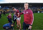 18 January 2020; Galway manager Padraic Joyce celebrates with Gary O'Donnell after the Connacht FBD League Final between Roscommon and Galway at Dr. Hyde Park in Roscommon. Photo by Ray Ryan/Sportsfile