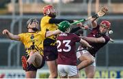 18 January 2020; Micheal Dwyer and Andrew Shore of Wexford in action against Jack Grealish and TJ Brennan of Galway during the Walsh Cup Final between Wexford and Galway at MW Hire O'Moore Park in Portlaoise, Laois. Photo by Diarmuid Greene/Sportsfile