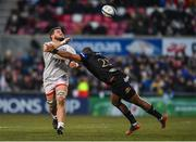 18 January 2020; Sean Reidy of Ulster being tackled by Tom de Glanville of Bath during the Heineken Champions Cup Pool 3 Round 6 match between Ulster and Bath at Kingspan Stadium in Belfast. Photo by Oliver McVeigh/Sportsfile