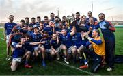 18 January 2020; Longford players celebrate with the cup following the 2020 O'Byrne Cup Final between Offaly and Longford at Bord na Mona O'Connor Park in Tullamore, Offaly. Photo by David Fitzgerald/Sportsfile