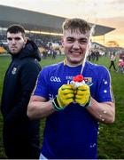 18 January 2020; Darragh Doherty of Longford celebrates following the 2020 O'Byrne Cup Final between Offaly and Longford at Bord na Mona O'Connor Park in Tullamore, Offaly. Photo by David Fitzgerald/Sportsfile