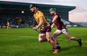 18 January 2020; Micheal Dwyer of Wexford in action against Jack Grealish of Galway during the Walsh Cup Final between Wexford and Galway at MW Hire O'Moore Park in Portlaoise, Laois. Photo by Diarmuid Greene/Sportsfile