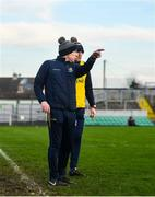 18 January 2020; Longford manager Padraic Davis, left, and selector Paul Barden during the 2020 O'Byrne Cup Final between Offaly and Longford at Bord na Mona O'Connor Park in Tullamore, Offaly. Photo by David Fitzgerald/Sportsfile