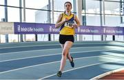 18 January 2020; Niamh Fenlon of North Down A.C., Co. Down, competing in the 800m event in the U16 Women's combined events  during the Irish Life Health Indoor Combined Events All Ages at Athlone International Arena, AIT in Athlone, Co. Westmeath. Photo by Sam Barnes/Sportsfile