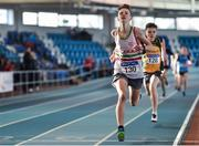18 January 2020; Alan Gladysz of Limerick A.C., Co. Limerick, competing in the 800m event in the U15 Men's combined events during the Irish Life Health Indoor Combined Events All Ages at Athlone International Arena, AIT in Athlone, Co. Westmeath. Photo by Sam Barnes/Sportsfile