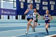 18 January 2020; Clara Miniter of St. Marys A.C., Co. Clare, competing in the 800m event in the U14 Women's combined events  during the Irish Life Health Indoor Combined Events All Ages at Athlone International Arena, AIT in Athlone, Co. Westmeath. Photo by Sam Barnes/Sportsfile