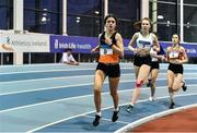 18 January 2020; Grainne O'Sullivan of Bray Runners A.C., Co. Wicklow, competing in the 800m event in the Youth Women's combined events  during the Irish Life Health Indoor Combined Events All Ages at Athlone International Arena, AIT in Athlone, Co. Westmeath. Photo by Sam Barnes/Sportsfile