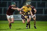 18 January 2020; Aidan Rochford of Wexford in action against Evan Niland and Sean Loftus of Galway during the Walsh Cup Final between Wexford and Galway at MW Hire O'Moore Park in Portlaoise, Laois. Photo by Diarmuid Greene/Sportsfile