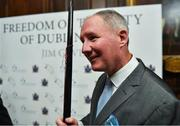 18 January 2020; Former Dublin GAA football team manager Jim Gavin at the Conferring of the Honorary Freedom of Dublin City on Jim Gavin ceremony in the Round Room at the Mansion House, in Dawson St, Dublin. Photo by Brendan Moran/Sportsfile