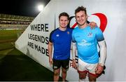 18 January 2020; Brothers, Freddie Burns of Bath, left, with, Billy Burns following the Heineken Champions Cup Pool 3 Round 6 match between Ulster and Bath at Kingspan Stadium in Belfast. Photo by John Dickson/Sportsfile